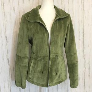 Nordstrom Kristen Blake Green Velour Coat
